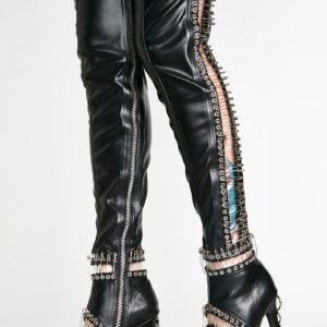 Pin Thigh High Boots
