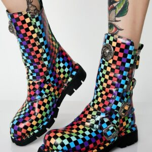 Rainbow Chess Boots