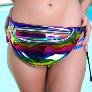 Rainbow Patent Holographic Fanny Pack