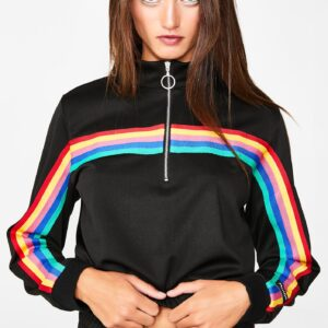 Rainbow Stripe Track Top
