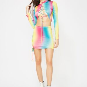 Rainbowz Lace Up Set