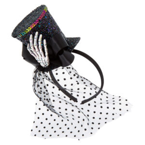 Skeleton Sequin Top Hat Headband