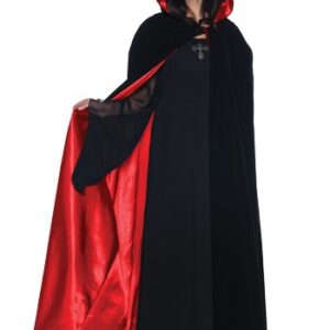 Velvet Cape with Red Satin Lining