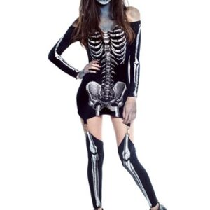x-rayed skeleton dress costume