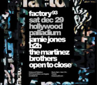 Jamie Jones and the Martinez Brothers take over the Hollywood Palladium on Saturday, Dec. 29