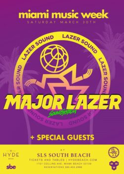 Major Lazer Takes On The SLS Hotel During Miami Music Week