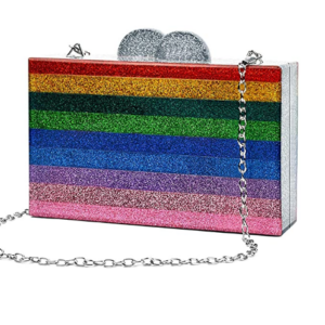 Acrylic Rainbow Crossbody Bag